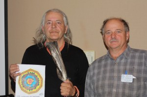 20150316 Hector Pictou thanked by Bruce Vienneau