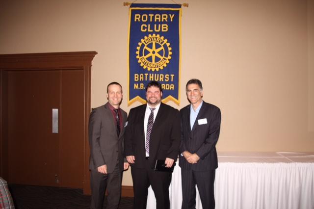Guestspeaker Paolo Fongemie Directeur CCNB Bathurst Rotary Club Of Bathurst